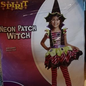 NWT Neon witch costume size 8/10